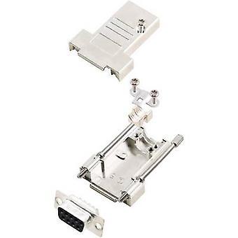 encitech DTSL09-T-JSRG+DMS-K D-SUB receptacle set 180 ° Number of pins: 9 Solder bucket 1 Set