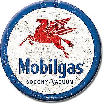 Mobil Pegasus Round Fridge Magnet