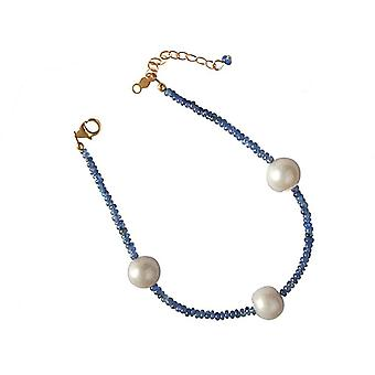 Safirarmband Sapphire bracelet beads Sapphire Pearl bracelet gold plated