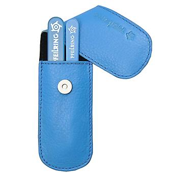 Nappa leather fashion arrow ring manicure case manicure set with blue glass nail files and tweezers