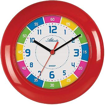 colorful wall clock quartz for children high quality ABS housing creeping second