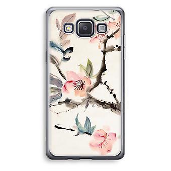 Samsung Galaxy A5 (2015) Transparent Case (Soft) - Japenese flowers