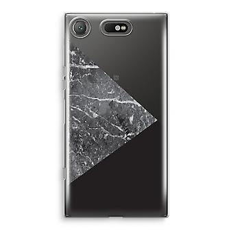 Sony Xperia XZ1 kompakt gjennomsiktig sak (myk) - marmor kombinasjon