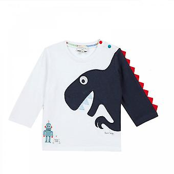 Paul Smith Infants Shay Embroidered Dino T-Shirt (White)