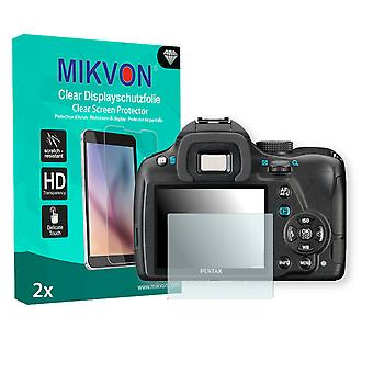 Pentax K-50 Screen Protector - Mikvon Clear (Retail Package with accessories)
