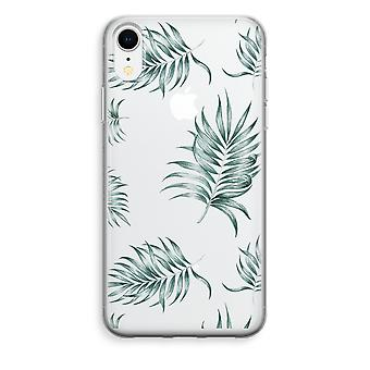 iPhone XR Transparant Case - Simple leaves