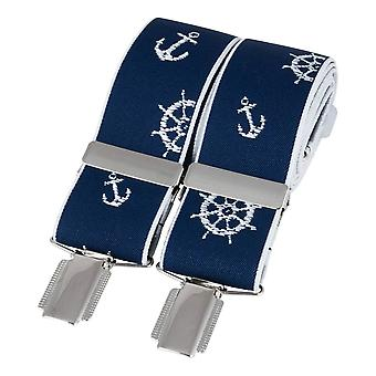 David Van Hagen Sailing Braces - Navy/White