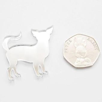 Chihuahua debout Craft Mini taille miroirs acryliques (10Pk)