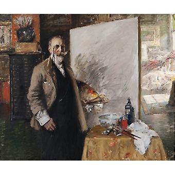 Self-Portrait, William Merritt Chase, 60x50cm