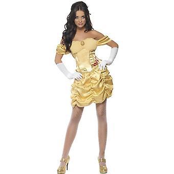 Fiebre oro princesa vestido de traje, Reino Unido 12-14