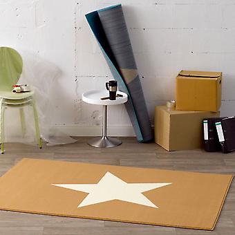Design velour carpet star beige cream 140 x 200 cm | 102037