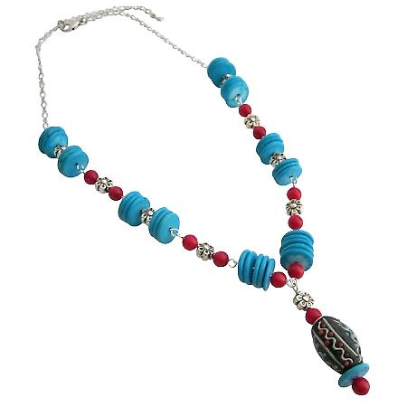 Turquoise Coral Rings Artisan Necklace Would Be Gorgeous Gift
