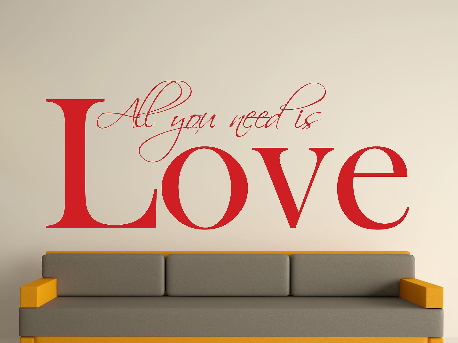 All You Need Wall Art Sticker - Deep Red