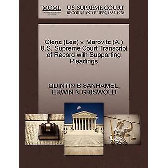 لي أولينز ضد المحكمة العليا الأمريكية ألف ماروفيتز نسخة من السجل مع دعم المرافعات التي سانهاميل آند ب كوينتين