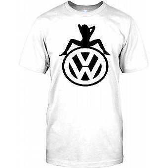 VW dziewczyna siedziała na Logo - Koszula męska inspirowane T Volkswagen