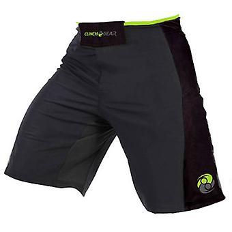 Clinch Gear Mens Signature MMA Wrestling Advantage Shorts - Gray/Black/Lime