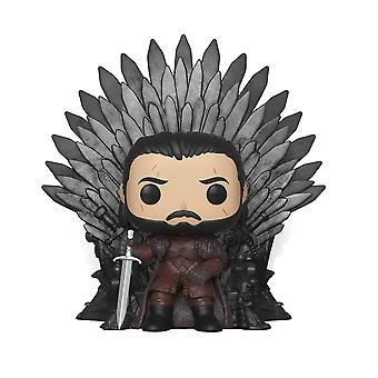 FUNKO POP! DELUXE: Game of Thrones - Jon Snow, assis sur le trône