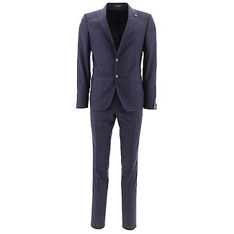 Tagliatore Blue Wool Suit