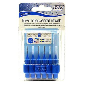 TePe interdentale borstel 0.6 blauw 6