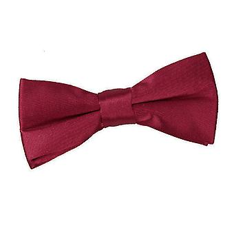 Pianura di Borgogna Satin Bow Tie pre-legato per i ragazzi