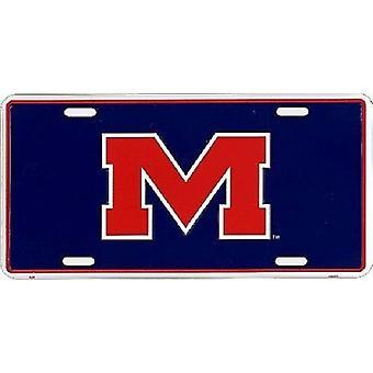 Ole Miss Rebels NCAA License Plate