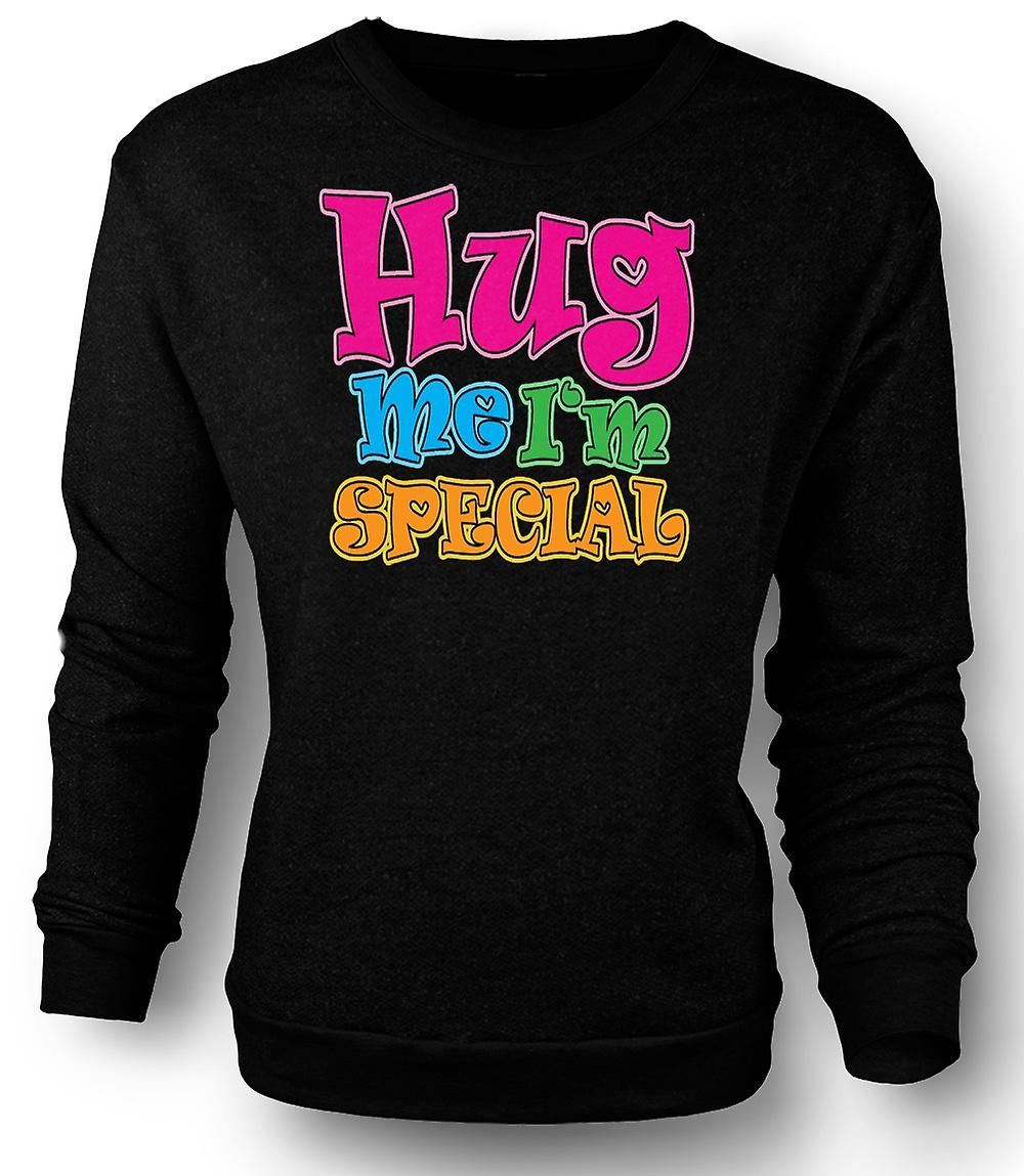 Mens Sweatshirt Hug Me Ich bin Spezial - lustig