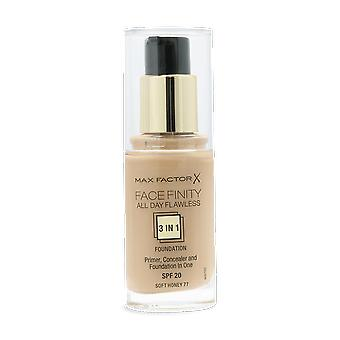 Max Factor Facefinity All Day Flawless 3-1 Foundation 77 Soft Honey 30ml