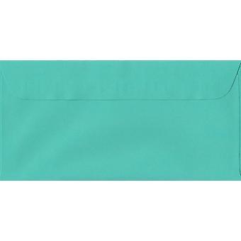 Emerald Green Peel/tätning DL + färgade gröna kuvert. 100gsm schweiziska Premium FSC-papper. 114 mm x 224 mm. plånbok stil kuvert.