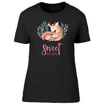 Schattig Sweet Dreams herten dierlijke Tee vrouwen ' s-afbeelding door Shutterstock