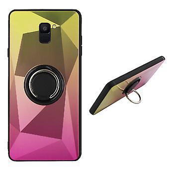 BackCover Ring / Magneet Aurora Samsung J6 2018  Goud+Roze