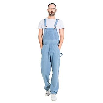 Maddox relaxed fit dungarees palewash