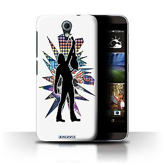 STUFF4 Case/Cover voor HTC Desire 820 Mini/Reach wit/Rock sterren Pose