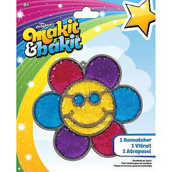 AKIT & Bakit Suncatcher Kit-Glitter Smiley Face fleur TB-48947