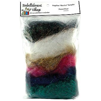 Angelina Crimped Cut Fibers .1 Ounce 6 Pkg Forest Blend Agforest