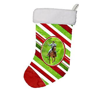 Hest Roper Candy Cane Holiday Christmas Christmas Stocking