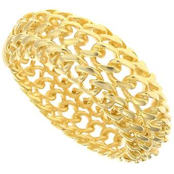 Kenneth Jay Lane Satin Gold Plated Braided Bracelet