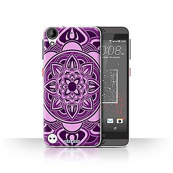 STUFF4 Case/Cover for HTC Desire 630/Petal/Purple/Mandala Art