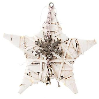 Item International Star Light Hanging Wicker Wood