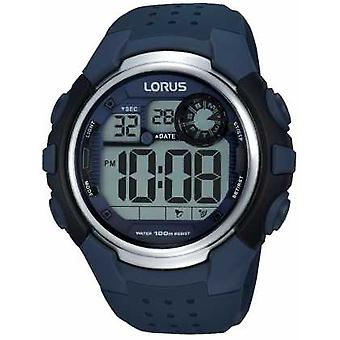 Lorus Mens Alarm Chronograph Blue Rubber Strap R2387KX9 Watch