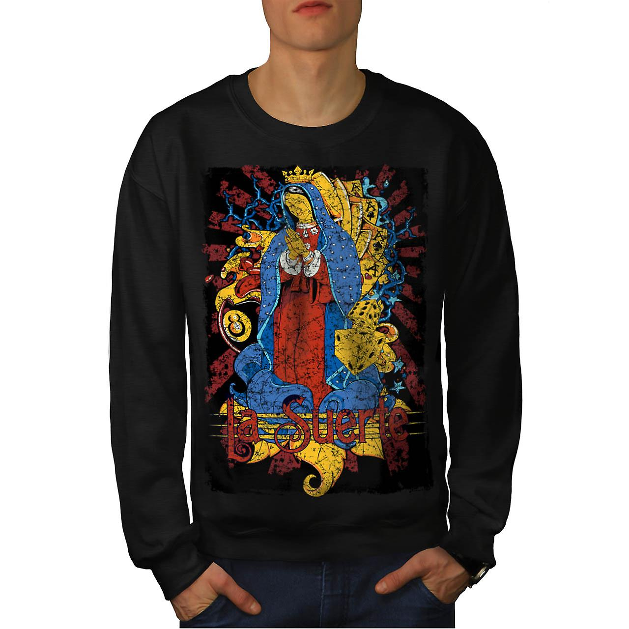 Mary Magdalene Card Mother Jesus Men Black Sweatshirt | Wellcoda