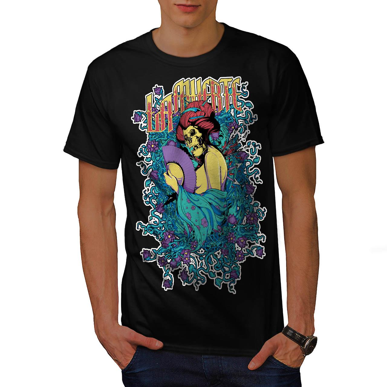 Japan hel Ghost Lady Oosterse mannen zwart T-shirt | Wellcoda
