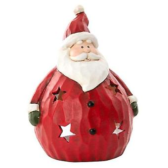 Item International Figure Santa Claus Ceramic Candle Holder