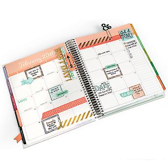 Sizzix Framelits Dies W/Stamps-Get It Done 661255