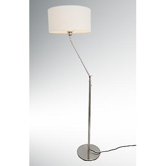 Design floor lamp with white Lampshade, 164 cm, Kaja FL, 10409