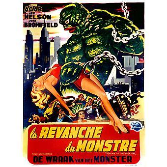 Hämnd av den varelse franska språket affisch Art Lori Nelson Tom Hennesy 1955 film affisch Masterprint