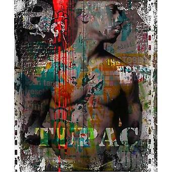 Tupac Poster Print von Micha Baker