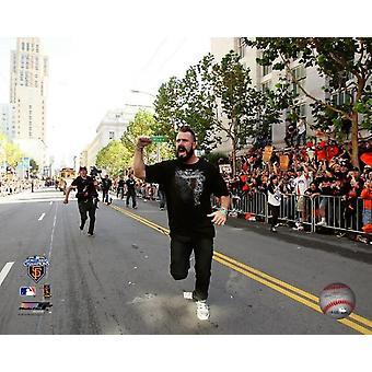 Brian Wilson 2010 World Series Parade Foto afdrukken