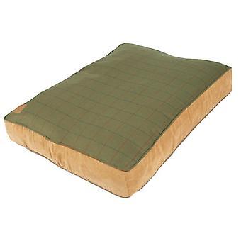 Tweed Green Box dynebetræk Medium 88x67x14cm