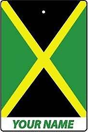 Jamaica Flag Personalised Car Air Freshener