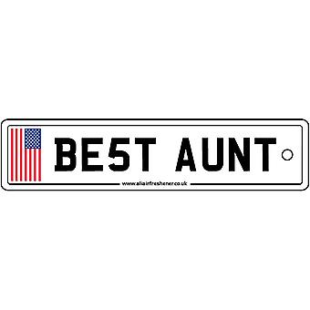 USA - Best Aunt License Plate Car Air Freshener